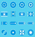 Create banner blue color icons vector image vector image