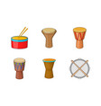 drums icon set cartoon style vector image vector image