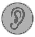 ear silver coin vector image vector image