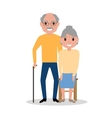 elderly couple grandparents aged people vector image vector image