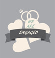 engagement vector image vector image