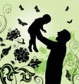 family time son and father vector image vector image