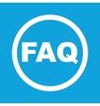 FAQ sign icon vector image vector image