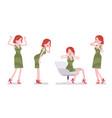female clerk negative emotions vector image