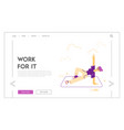 fitness sport and healthy lifestyle website vector image vector image