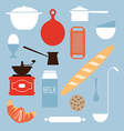 food and kitchen objects vector image