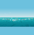 garbage in polluted sea ocean water nature vector image vector image