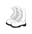 hand drawn doodle boots vector image