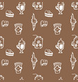 hand drawn seamless coffee shop pattern vector image