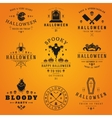 Happy Halloween day labels and badges vector image vector image