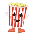 Happy popcorn bucket vector image