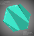 Hexagon motif randomly divided to five green parts vector image vector image