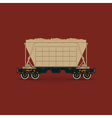 Hopper Isolated on Red Background vector image vector image