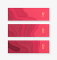 horizontal banner set template with colorful vector image