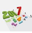 Human Constructing New Year 2017 vector image vector image