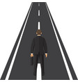 human is standing on road concept way forward vector image vector image