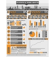 INFOGRAPHIC WORK ORANGE vector image vector image