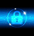 internet security blue abstract background vector image vector image