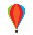 isolated carnival air balloon icon vector image