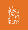 let love in hand lettering vector image