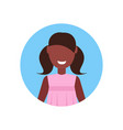 little girl happy african american child face vector image