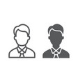manager line and glyph icon office and work vector image vector image