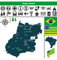 map of goias brazil vector image vector image