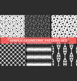 minimalist simple geometric seamless pattern vector image vector image