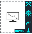 monitoring icon flat vector image vector image