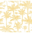palm trees golden textile seamless pattern vector image vector image