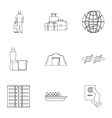People refugees icons set outline style vector image vector image