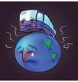 Planetcar vector image