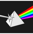 Prism and Ray of light vector image