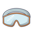 protect climb glasses icon cartoon style vector image vector image