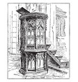 pulpit vintage vector image vector image