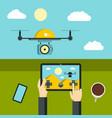 radio-controlled drones concept vector image vector image