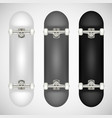 realistic skateboard template vector image