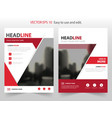 red abstract annual report brochure vector image vector image