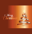 ribbon christmas tree background vector image vector image