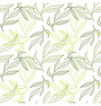 seamless pattern with doodle leaf vector image vector image