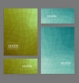 set of book covers and banners vector image vector image