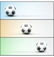 Set of light sports banner for a website to soccer vector image vector image
