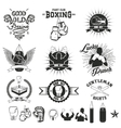Set of the boxing club labels emblems and design vector image