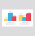 set yellow and blue red elements vector image