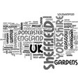 sheffield word cloud concept vector image vector image