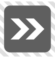 Shift Right Rounded Square Button vector image
