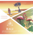 sketch bali vacation template vector image