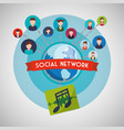 social network design social media icon isolated vector image vector image