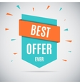 Special offer sale tag discount isolated on gray vector image