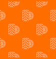 tire pattern orange vector image vector image